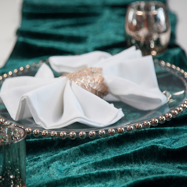Crushed Velvet Table Runners