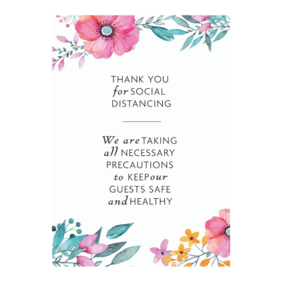SOCIAL DISTANCE WEDDING SIGN 03 A3