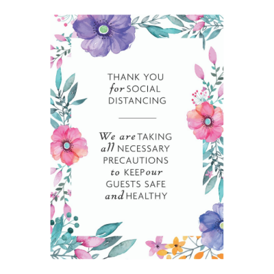 SOCIAL DISTANCE WEDDING SIGN 04 A3