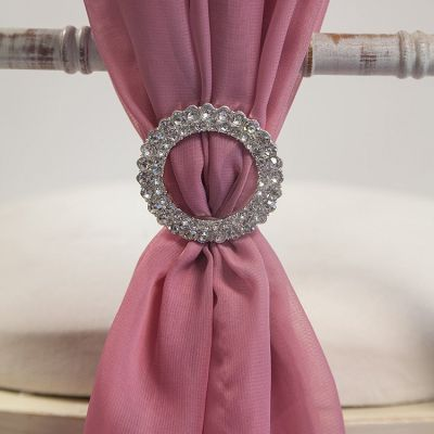 Round Double Diamante Brooch 6 Pack