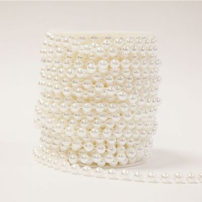 Pearl String Garland Reels 8MM - White