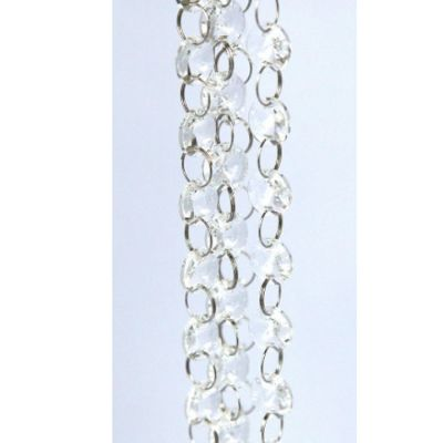 Glass Crystal Circle Garland Strand 14mm - Clear