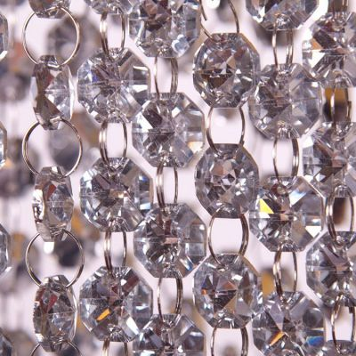Glass Crystal Garland Strand 18mm x 1m - Silver
