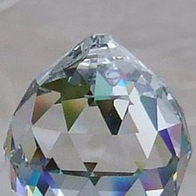 Crystal Drop Ball 40mm - Clear