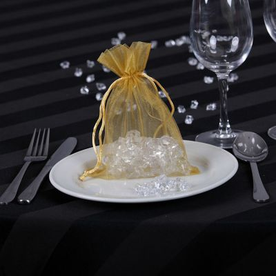 Sheer Organza Favour Bags - Gold