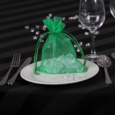 Sheer Organza Favour Bags - Kelly Green