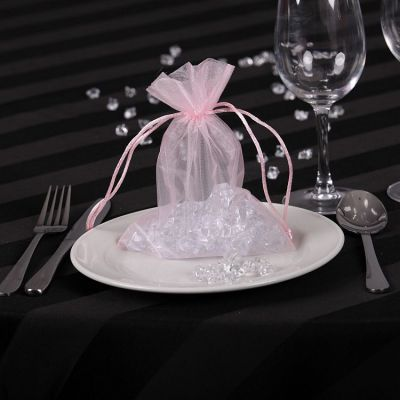 Sheer Organza Favour Bags - Pink