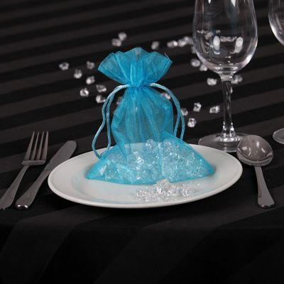 Sheer Organza Favour Bags - Turquoise