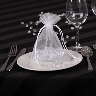 Sheer Organza Favour Bags - White