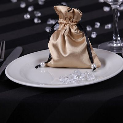 Satin Favour Bags - Gold