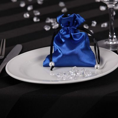 Satin Favour Bags - Royal Blue