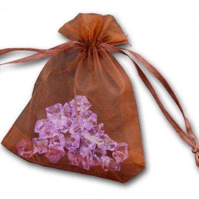 Essential Organza Favour Bags - Chocolate