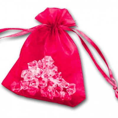 Essential Organza Favour Bags - Hot Pink