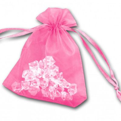 Essential Organza Favour Bags - Pink