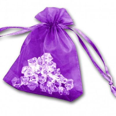 Essential Organza Favour Bags - Purple