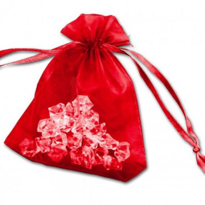 Essential Organza Favour Bags - Red