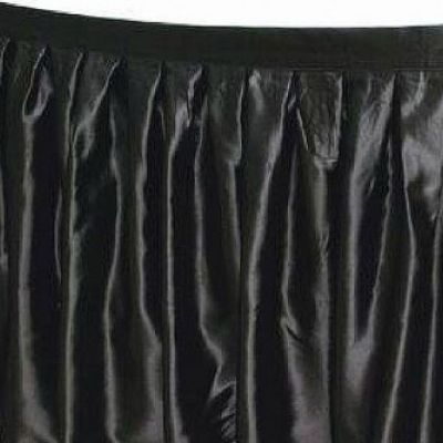 Table Skirt 17ft - Black