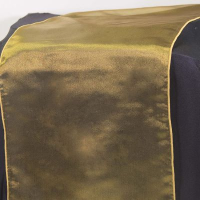 Organza Table Runner - Black/Victoria Gold