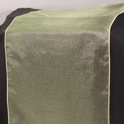 Organza Table Runner - Green/Yellow