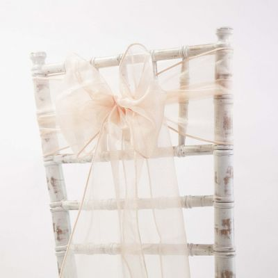 Organza Sash 20cm x 275cm - Light Peach