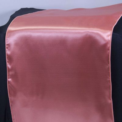 Satin Table Runner - Coral