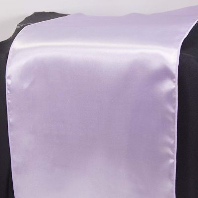 Satin Table Runner - Lilac