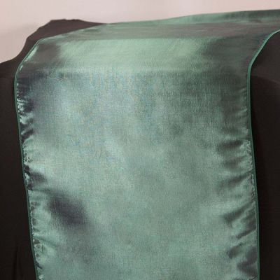 Taffeta Table Runner - Hunter/Garnet