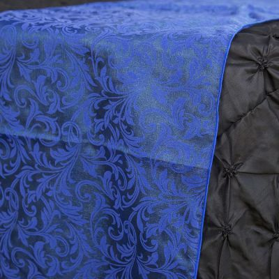Flock Organza Table Runners - Royal Blue