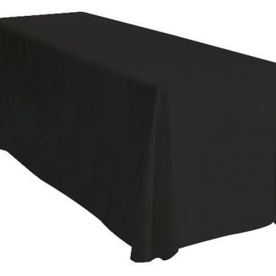 Table Cloth Spun Poly 70x144 - Black
