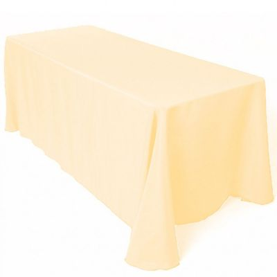 Table Cloth Spun Poly 70x144 - Ivory
