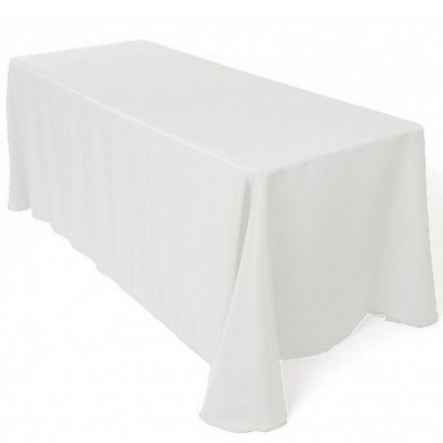 Table Cloth Spun Poly 70x144 - White