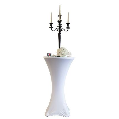 Lycra Cocktail Table Covers - Size B - White