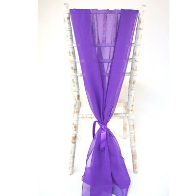 Chiffon Vertical Drops - Purple