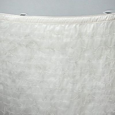 Ruffled Organza Table Skirt 17ft - Ivory