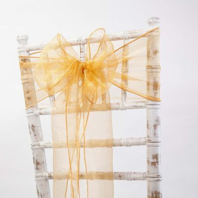 Organza Sash 20cm x 275cm - Orange