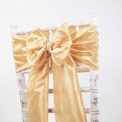 Taffeta Sash - Light Gold