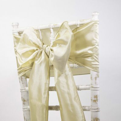 Taffeta Sash - Light Antique