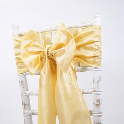 Taffeta Sash - Canary Yellow