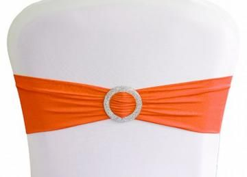 Lycra Chair Bands With Buckle - Orange