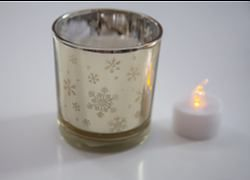 Snowflake Tealight Holder - Gold