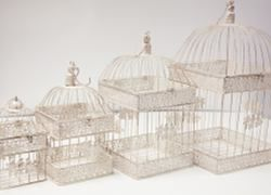 Rustic Ivory Birdcage Set of 4 - DT1001