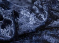 Crushed Velvet Fabric 170cm Wide - Navy