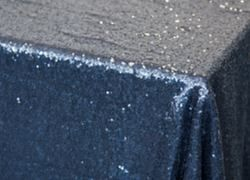 Sequin 70x144 Table Cloth - Navy