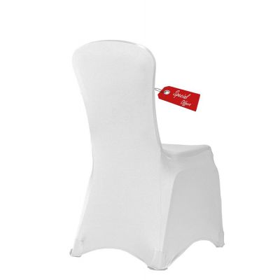 Essential Spandex Lycra Chair Covers White x 100