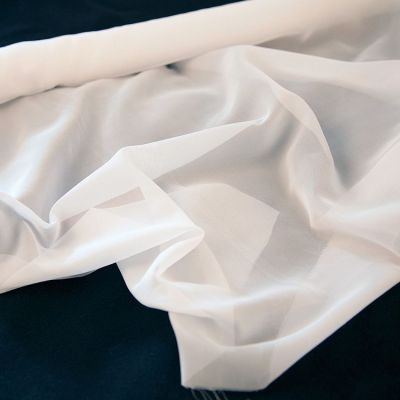 Voile Fabric 72cm x 10m Roll - White
