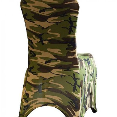 Print Lycra Chair Cover - Camouflage/Army