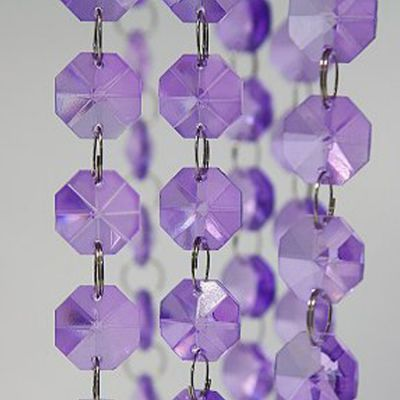 Glass Crystal Strand 18mm x 1M - Purple