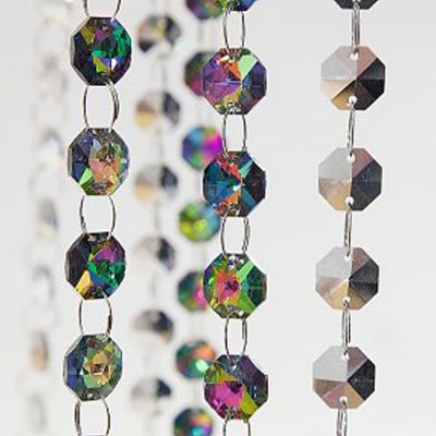Glass Crystal Strand 14MM x 1M - Mirror Faced