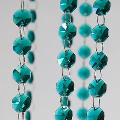 Glass Crystal Strand 14mm x 1M - Teal