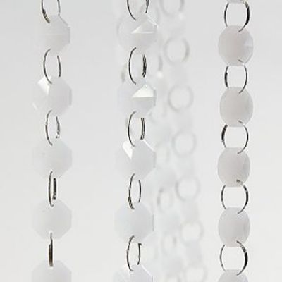 Glass Crystal Strand 14MM x 1M - White/Pearl